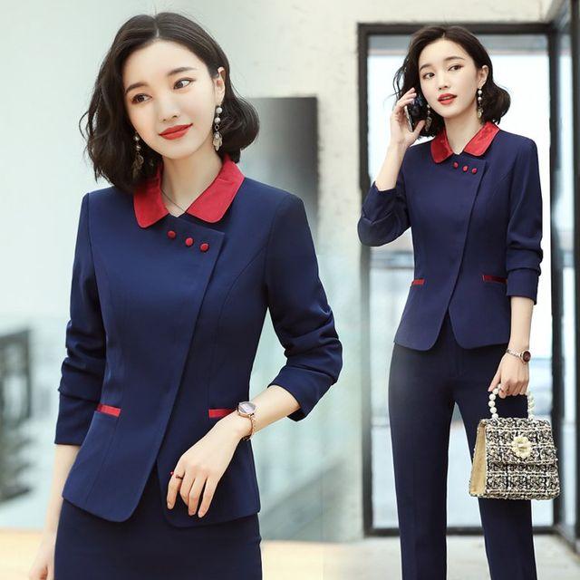[해외] 여성 패션 재킷 자켓 정장세트긴 소매 전문 정장