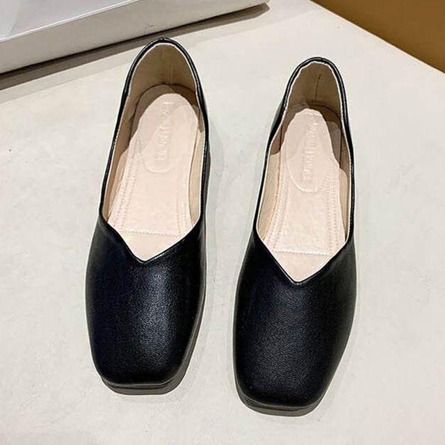 W 깔끔한 스타일 여자 낮은 구두 발 편한 플랫슈즈
