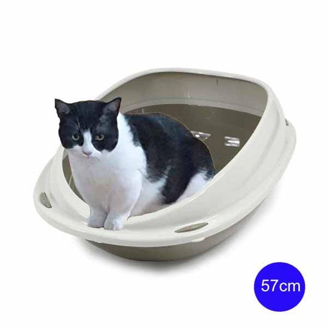 유선형 셔틀57 평판형 고양이 화장실 57cm(그레이)