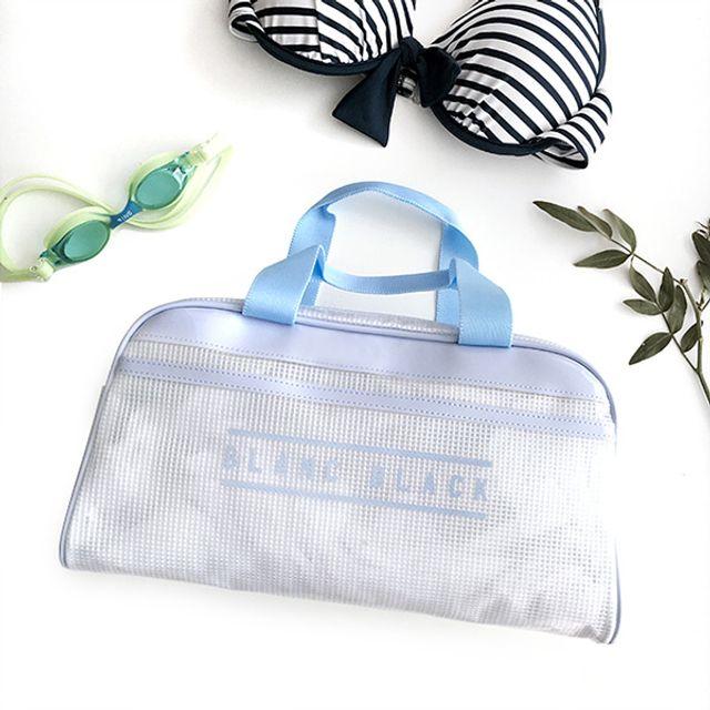 모던스타일 수영가방-블루 [제작 대량 도매 로고 인쇄 레이저 마킹 각인 나염 실크 uv 포장 공장 문의는 네이뽕]