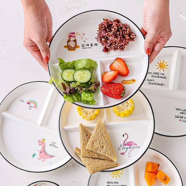 [해외] 주방용품 식판 량 접시 3 격자 분할 접시