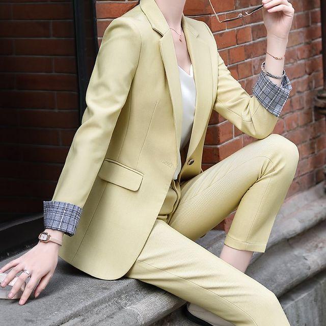 [해외] 여성 패션 재킷 자켓 정장세트킷 바지 작은 정장