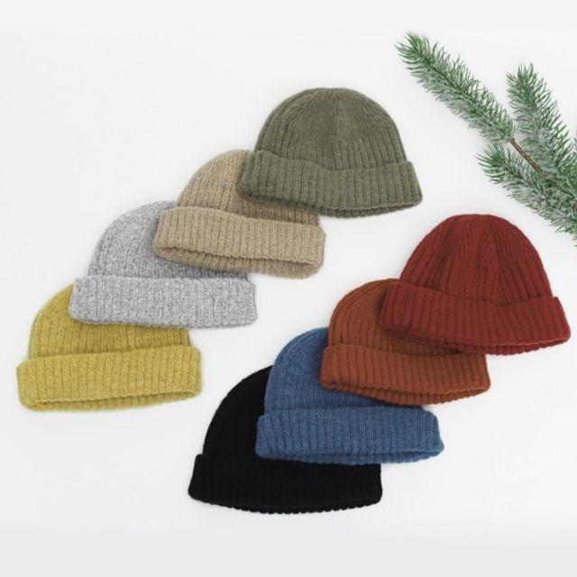 마일드 숏비니 모자 겨울모자 와치캡 털모자 니트모자