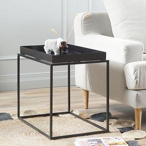 철제프레임 사각 트레이 테이블 사이드 보조 화분정리