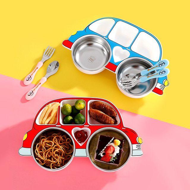 [해외] 주방용품 식판 어린이 식사 그릇 식기 세트