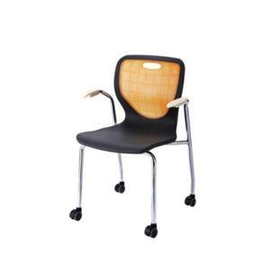 팔걸이 바퀴의자 이동식 등받이 회의용 강의실 공부