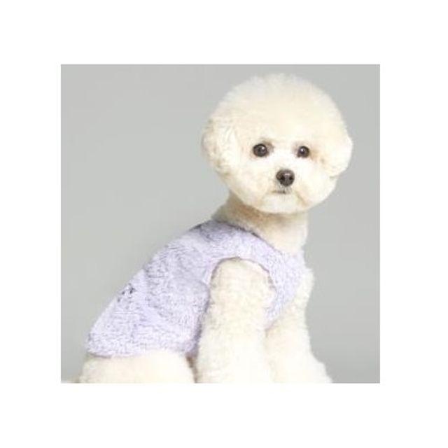 강아지 수면 조끼 라벤더 애견 의상 겨울 야외 외출겸