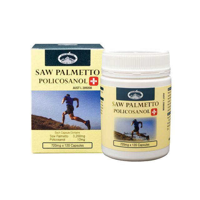 [해외] 호주 네이쳐스탑 쏘팔메토 3200mg 폴리코사놀 120캡슐