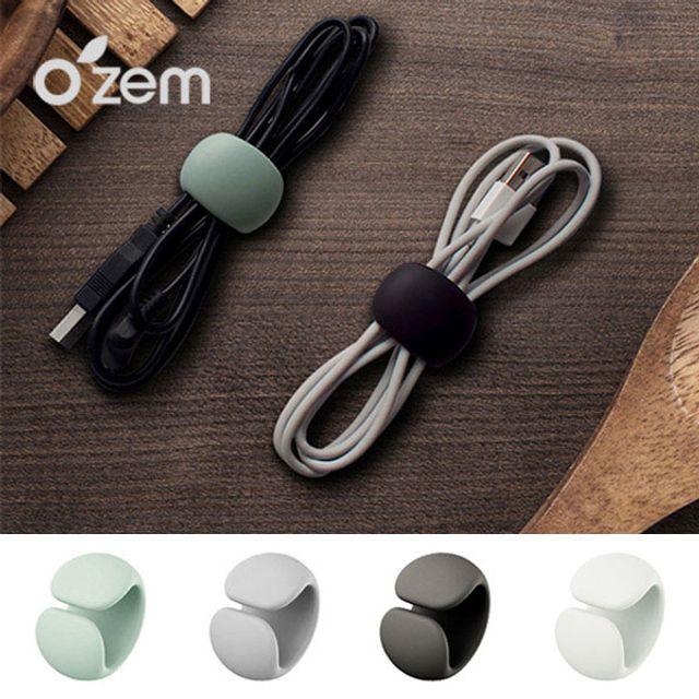 (오젬) 다용도 케이블 정리클립(4p) 이어폰.충전선 정리