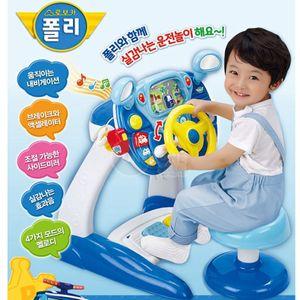 어린이 운전놀이 운전대 자동차 장난감 로보카 폴리