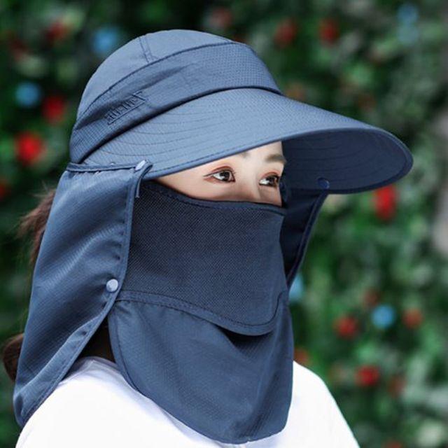 W 야외 활동 햇빛 자외선 차단 피부 보호 챙 모자