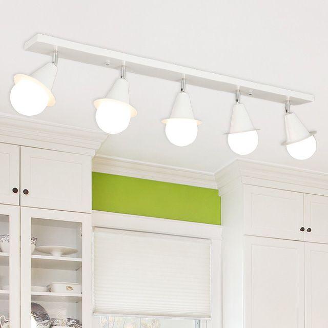 LED 예나 5등 직부등 (블랙/화이트) / 전구포함가