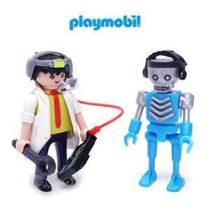 플레이모빌 듀오팩 로봇과 과학자 블럭 아동 장난감