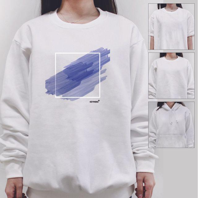W 키밍 수채화 여성 남성 티셔츠 후드 맨투맨 반팔티