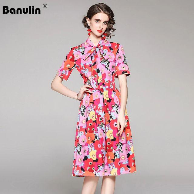 [해외] Banulin 새로운 2021 패션 활주로 비치 드레스 여름