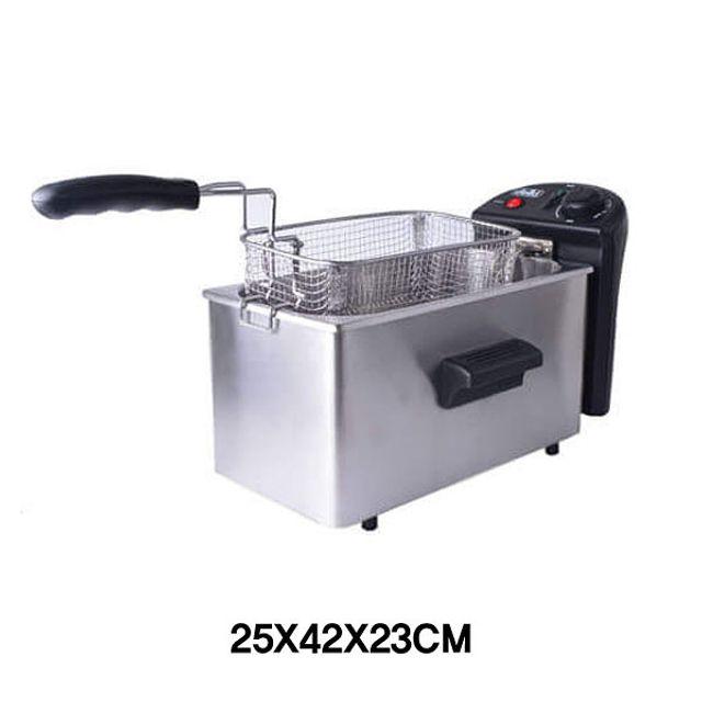 탁사용 1구 전기튀김기-6L [제작 대량 도매 로고 인쇄 레이저 마킹 각인 나염 실크 uv 포장 공장 문의는 네이뽕]
