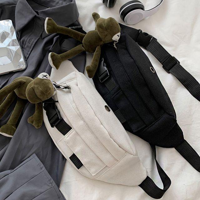 W 가벼운 여행 외출 보조 가방 스링백 힙색 크로스백