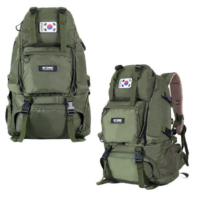 전술 밀리터리 등산 낚시 가방 여행용 배낭 45L 카키