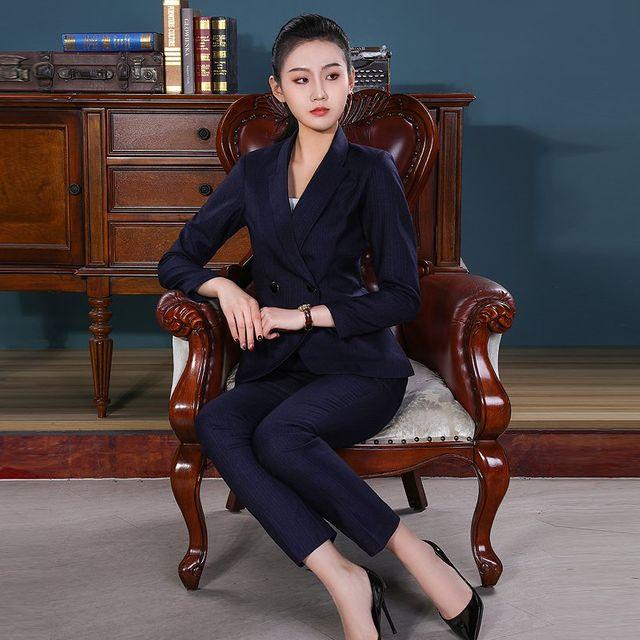 [해외] 여성 패션 재킷 자켓 정장세트관리자 정장 작업복