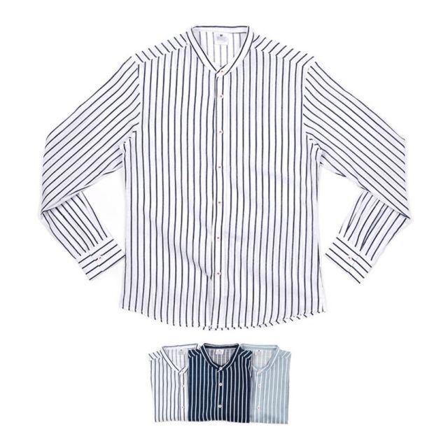 남자셔츠 트랜디 스트라이프 셔츠 BP0417006