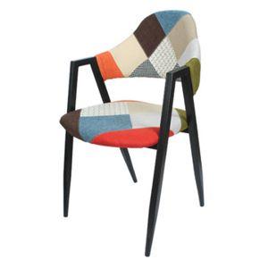비올렛 체크무늬 의자
