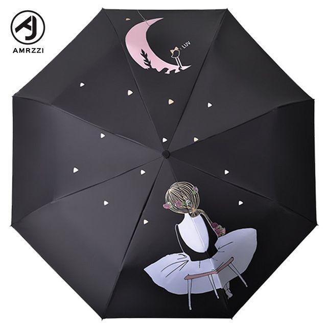 [해외] 패션소품 양산 방수 방풍 은 휴대용 비와 비