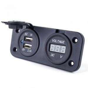 A580514 e.매립용 12v 아웃렛 ( USB 충전 2포트 + 볼트메타 )