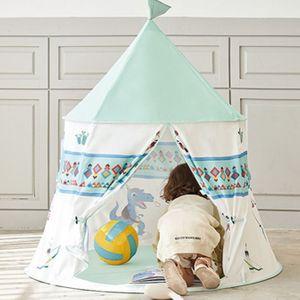 인디언 유아 텐트 어린이 놀이 텐트 미니 하우스 민트
