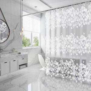 욕조 파티션 칸막이 화장실 꽃무늬 커튼 180x200cm