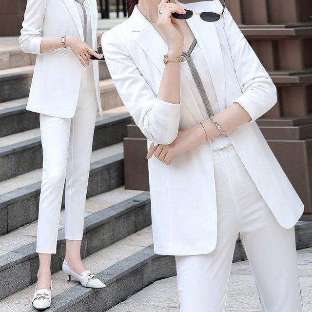 [해외] 여성 패션 재킷 자켓 정장세트식 그물 붉은 기질