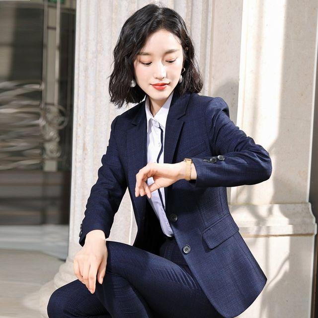 [해외] 여성 패션 재킷 자켓 정장세트비즈니스 정장 착용