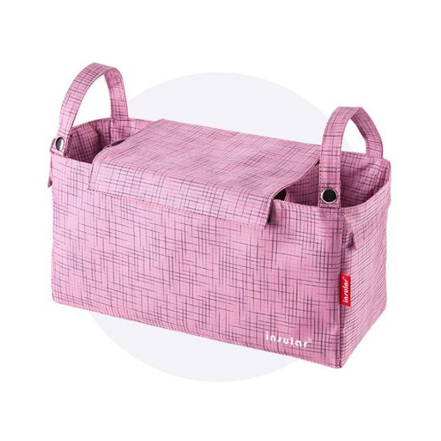 국민 유모차 가방 기저귀 주머니 파우치 정리함 핑크