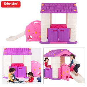에듀플레이하우스3 미끄럼틀 놀이집 (바이올렛)