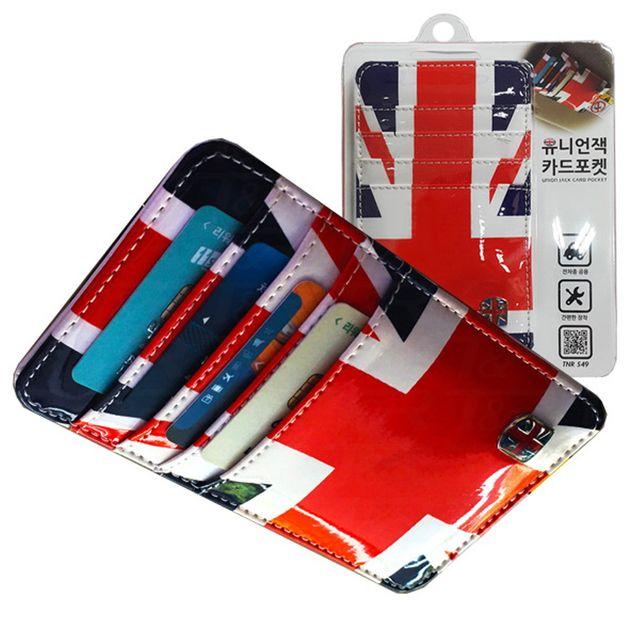 W 티엔알549 영국국기 카드 영수증 차량용 수납포켓