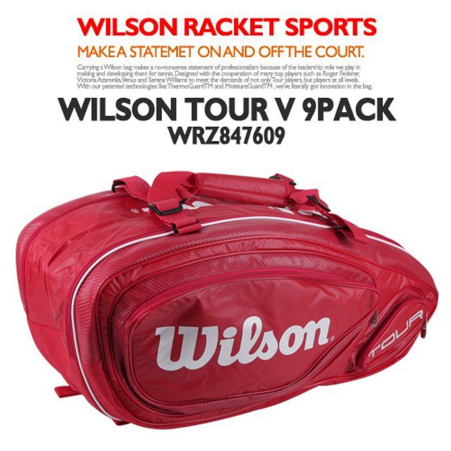 윌슨 WRZ847609투어V 9PACK RD 테니스가방 테니스용품