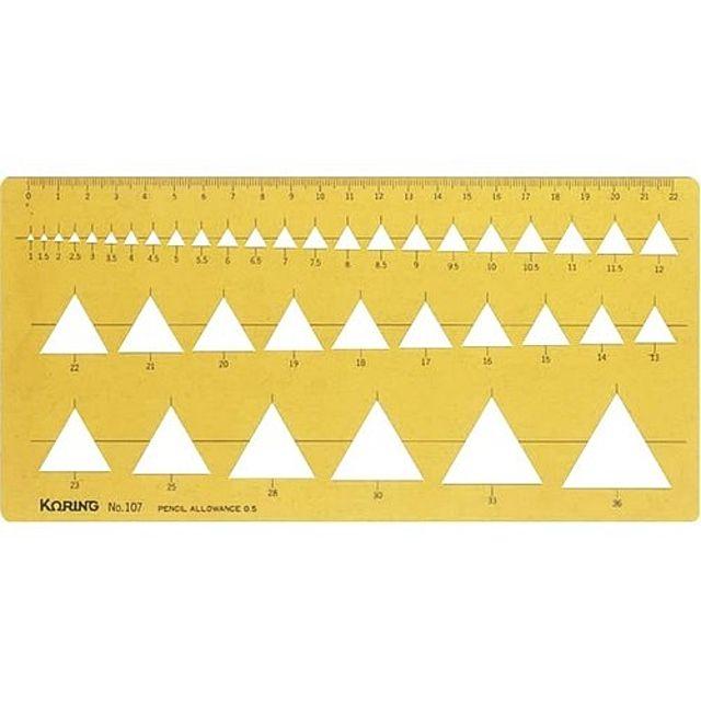 문구사무/템플렛(K-107F/삼각정규)