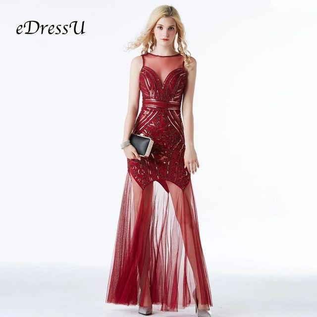 [해외] Edressu 핫 레드 vestidos 여성 정장 드레스 칵테일