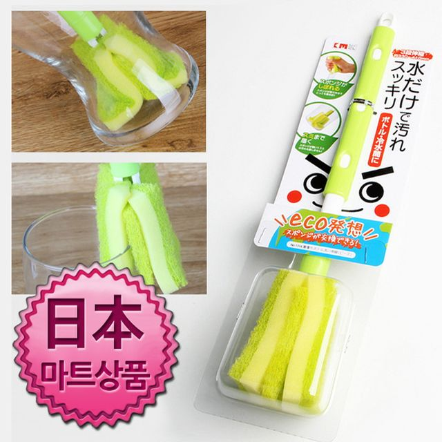 W 일본마트상품 길이조절 대형 병솔 자루수세미