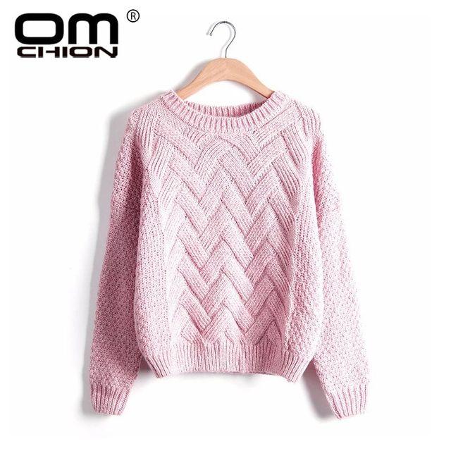 [해외] Omchion pull femme 2019 한국어 격자 무늬 모헤어 스