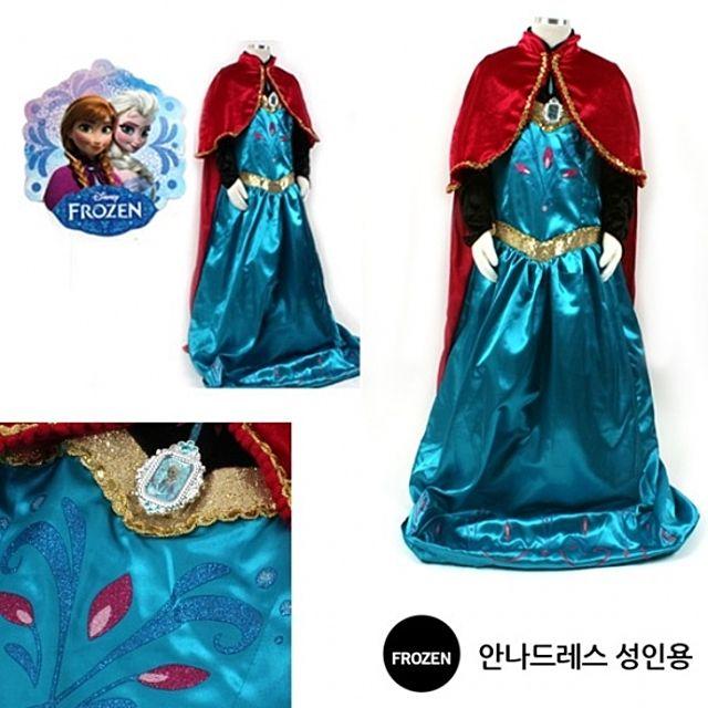 안나 드레스 성인용 - 코스튬 할로윈의상 안나드레스 드레스 할로윈