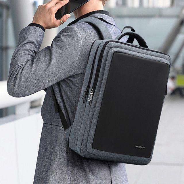 W 남성 스퀘어 직장인 학생 출장 여행 메쉬 노트북 백팩