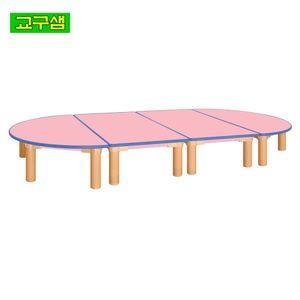 어린이 안전 분홍 열린 책상 H290 H78-7