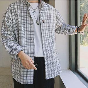 c5b099c829f 남자 사각줄 무늬 남방 셔츠 와이셔츠 캐주얼옷 신상