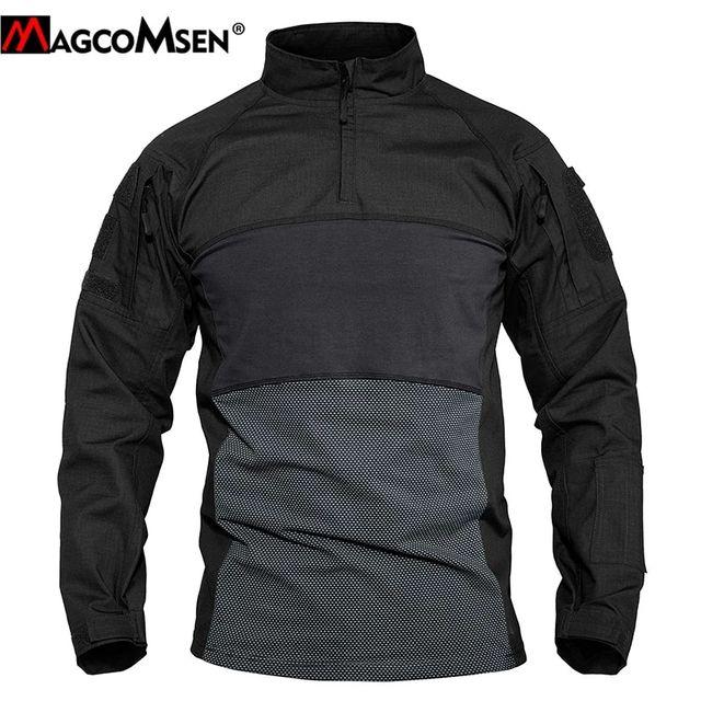 [해외] MAGCOMSEN 육군 티셔츠 남자 긴 소매 전술 전투 T 셔