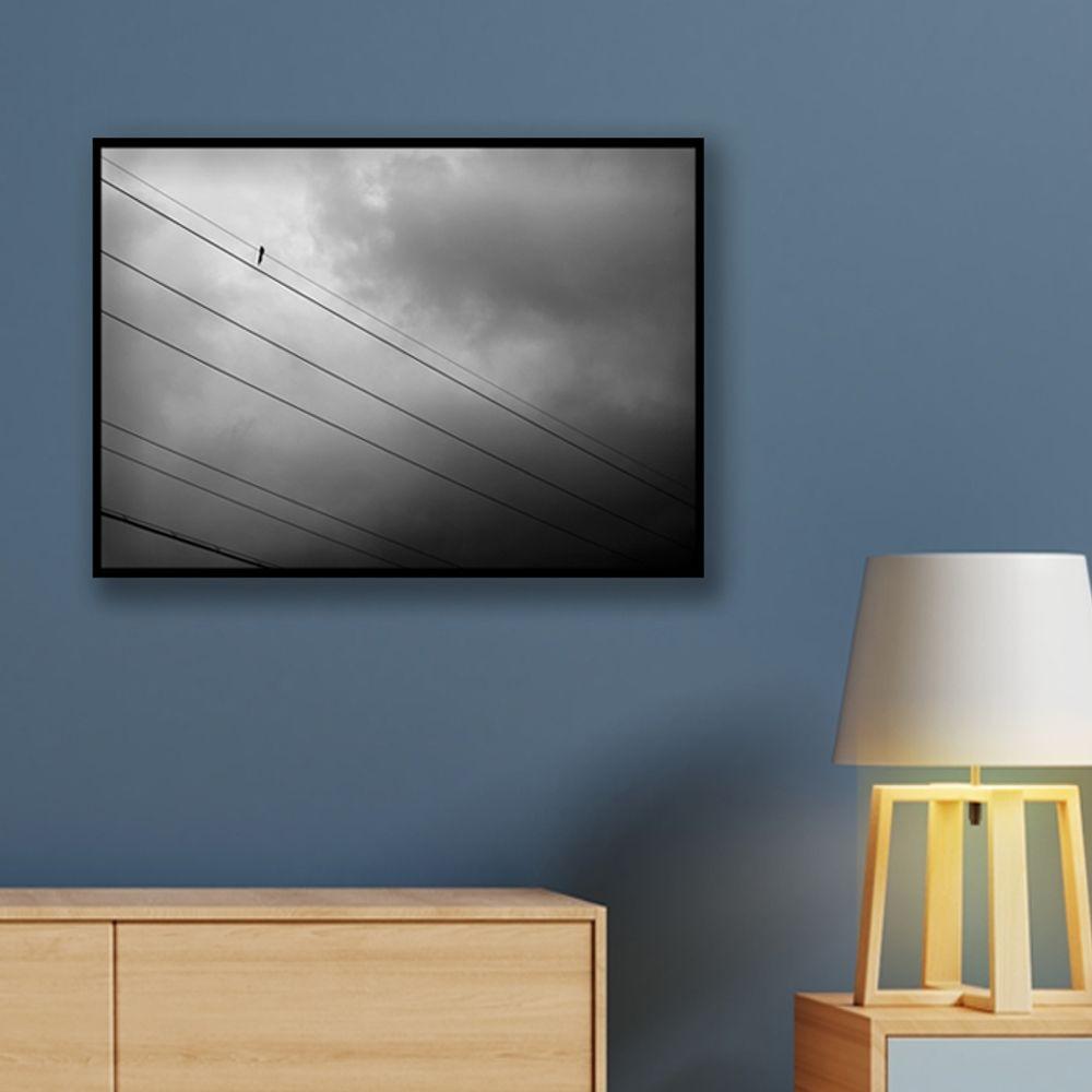 사진 인테리어 액자  자연 풍경 흑백사진 A3블랙AL9