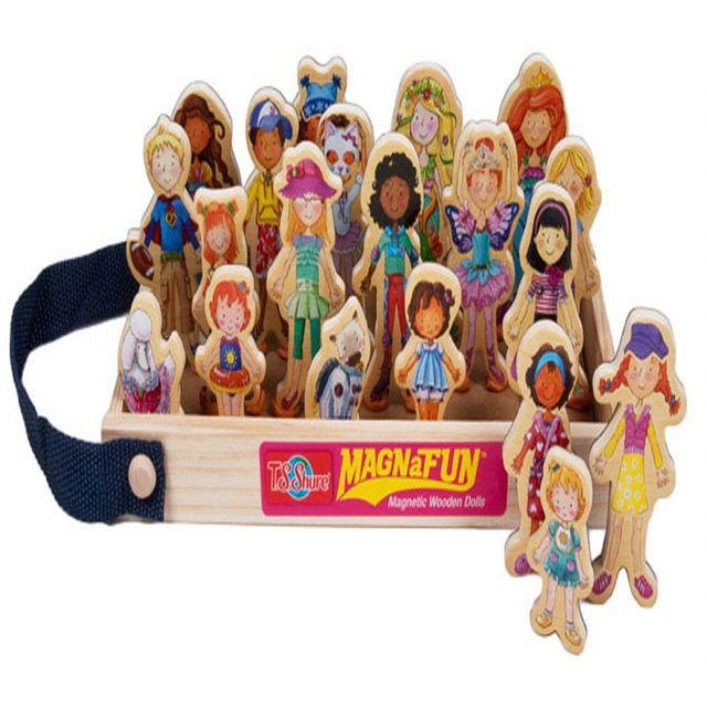 나무 목재 데이지걸 인형 역할놀이 마그네틱 장난감