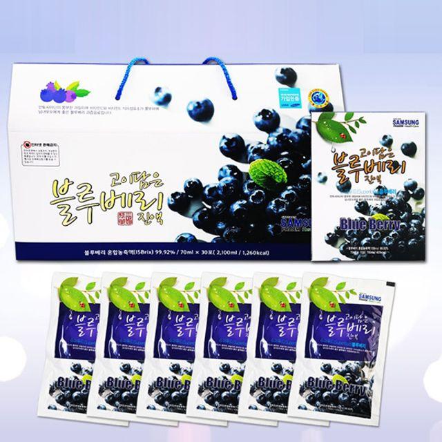 고이담은 블루베리진액(30포) 명절선물 과일즙 음료수,블루베리농축액,블루베리,과일파우치,블루베리음료수,블루베리즙