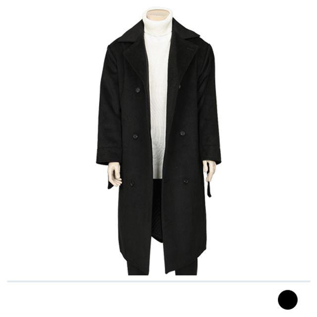 롱 더블단추 울 코트-블랙 남자 겨울 리즈코 남자옷도매 아우터 맨도매 맨즈도매 남성