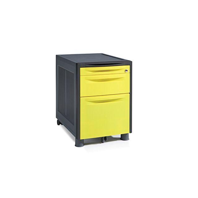 3단 사출 사무용 이동 서랍 옐로우 펜서랍 화일 박스