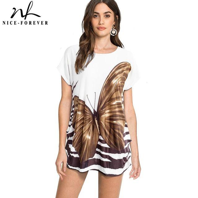 [해외] 니스-영원히 2021 여름 여성 패션 나비 프린트 드레스